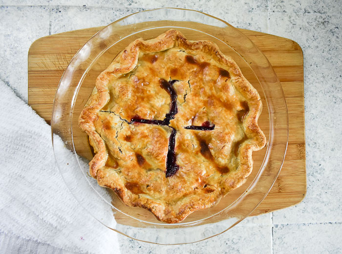 baked lemon ginger cherry pie