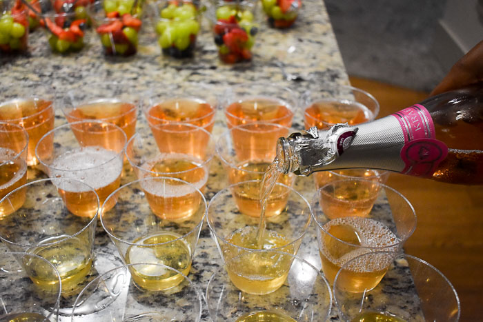 pouring blushing bride cocktail