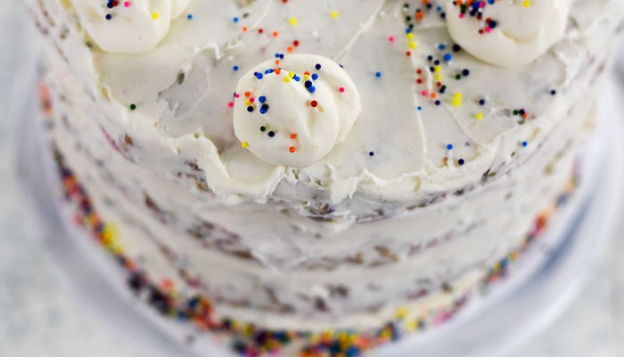 Bourbon Vanilla Birthday Cake