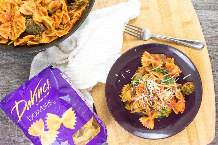 pasta skillet dinner on plate