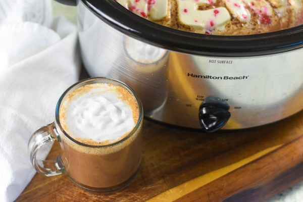 Slow Cooker Peppermint Hot Cocoa