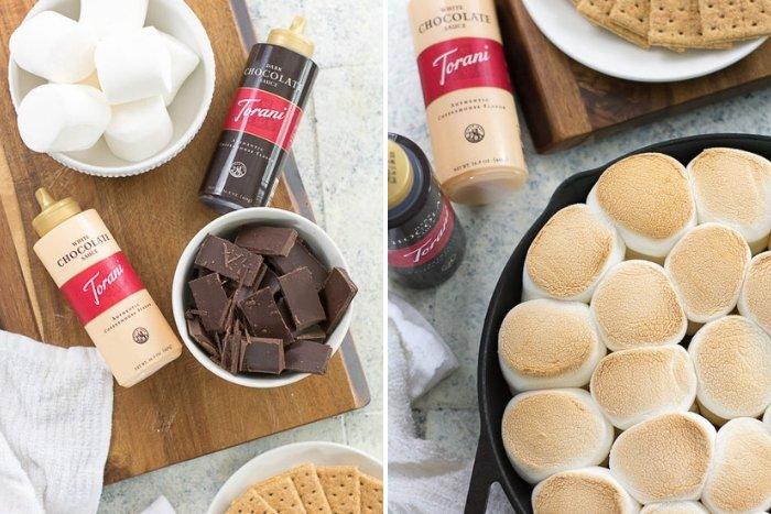 dark chocolate skillet s'mores dip ingredients
