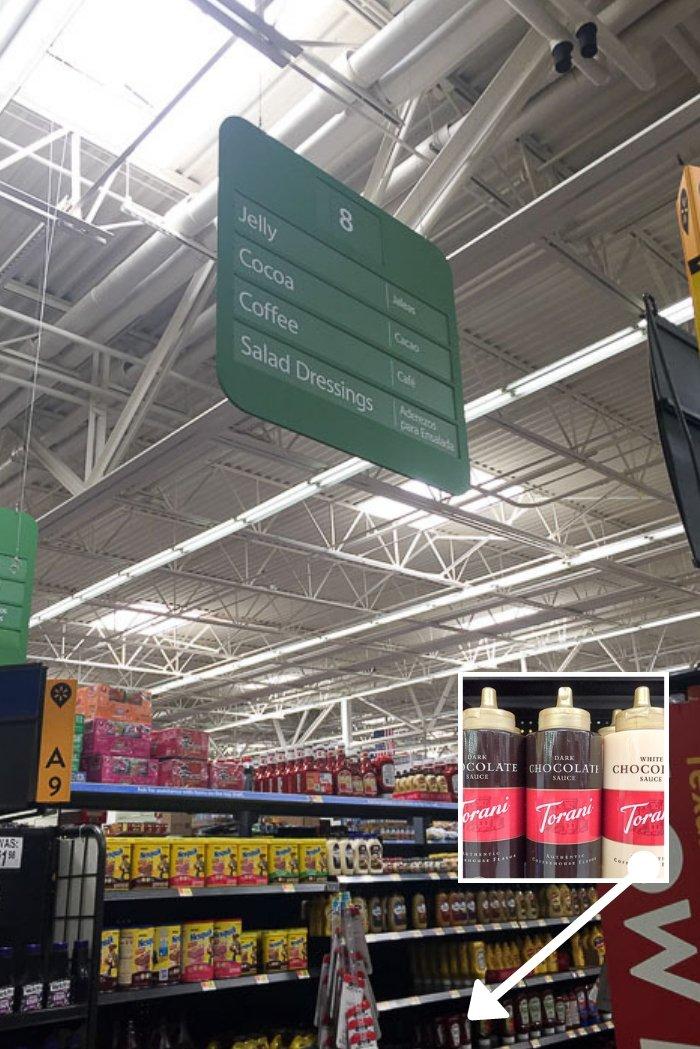 Walmart in-store aisle photo