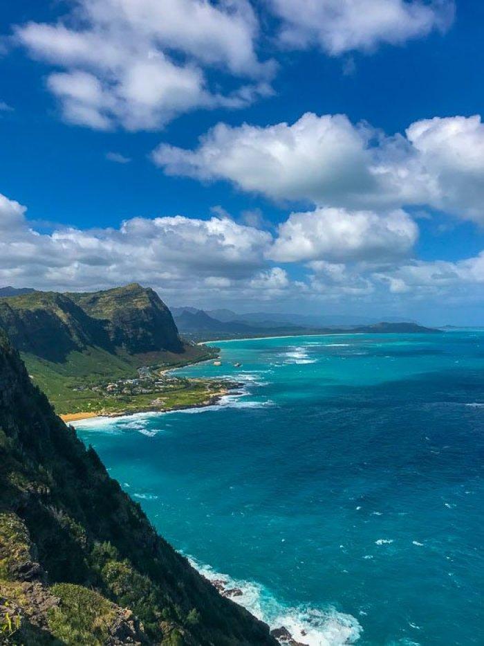 view along Makapu'u Lighthouse trail, Oahu, Hawaii