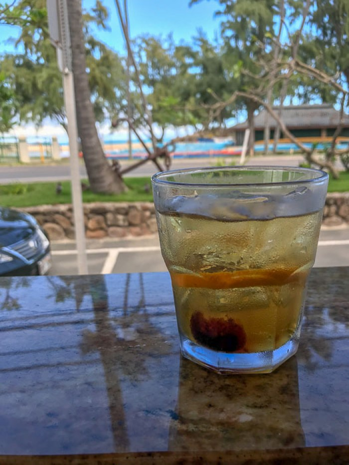 Buzz's Old Fashioned cocktail at Buzz's Steakhouse Kailua Oahu