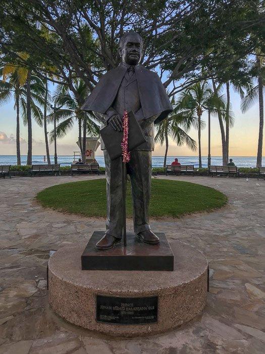 Prince statue on Waikiki Beach