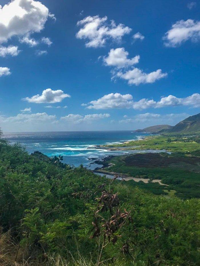 views along Makapu'u Lighthouse Trail, Oahu Hawaii