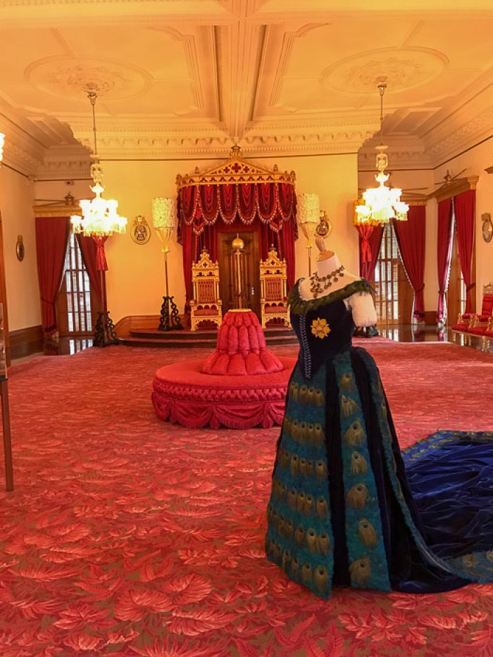 throne room at Iolani Palace, Oahu, Hawaii