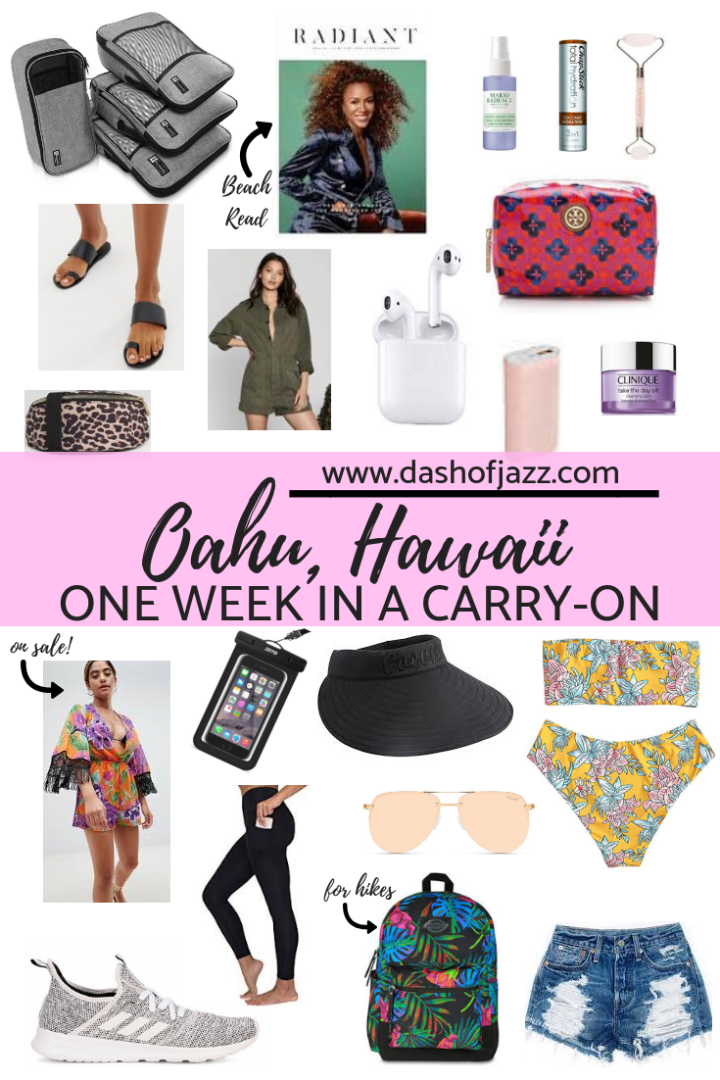 One Week in Oahu Hawaii Carry On Packing List
