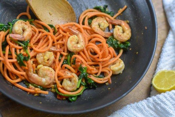 15-Minute Shrimp & Veggie Skillet Dinner For One
