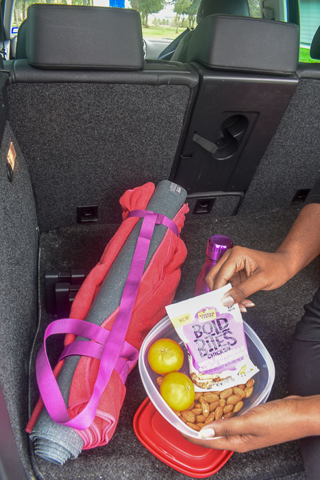 holding pre-workout snack pack