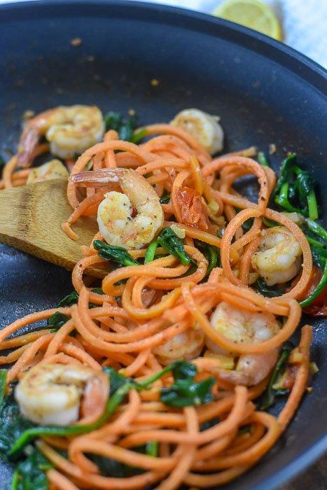 shrimp and veggie skillet dinner