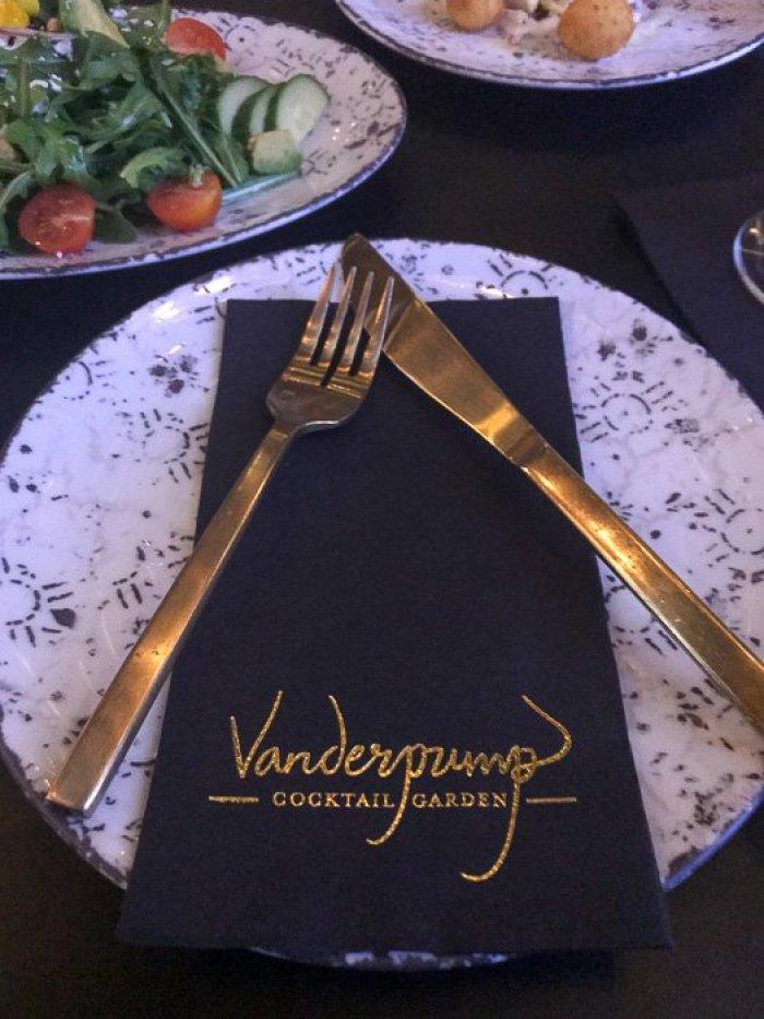 Eating at Vanderpump Cocktail Garden in Las Vegas