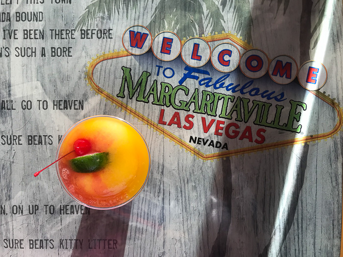 mango strawberry frozen margarita at margaritaville Las Vegas