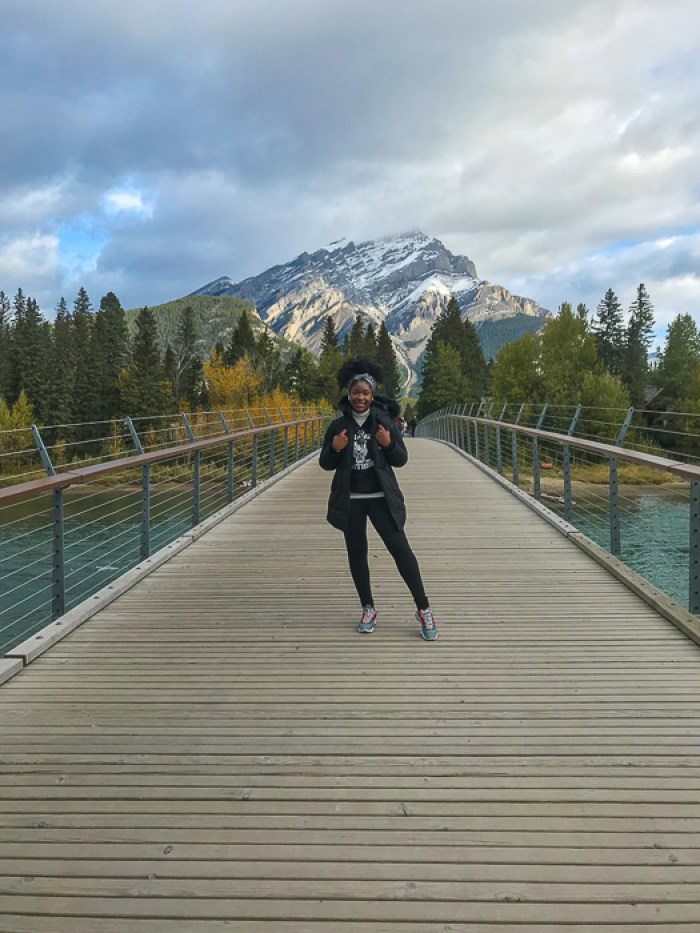 Dash of Jazz on Banff Pedestrian Bridge