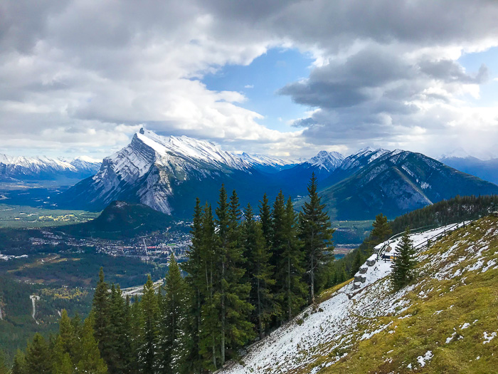 Mountain view, Banff, Alberta