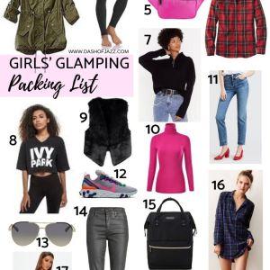 Girls' Glamping Packing List