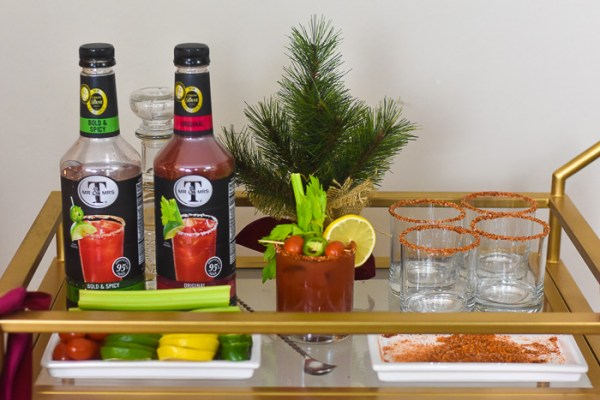 Holiday Bloody Mary Bar + Bloody Margarita Recipe