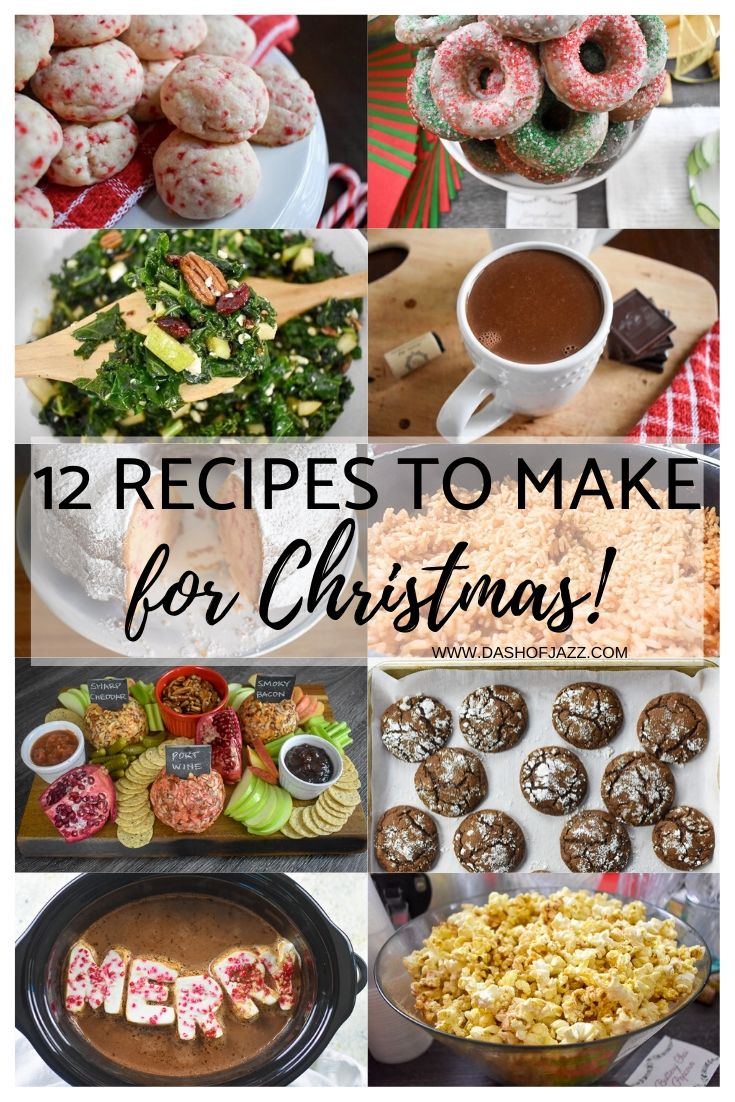 A delicious collection of Christmas recipes for everything from cozy winter nights to family gatherings and even Christmas morning breakfast by Dash of Jazz #dashofjazzblog #Christmasrecipes #Christmasrecipesdinner #Christmasdrinkideas