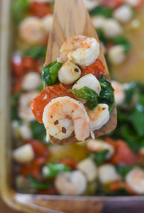 Sheet Pan Garlic Butter Shrimp & Scallops