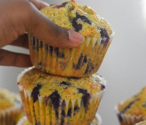 Jumbo Lemon Blueberry Poppy Seed Muffins