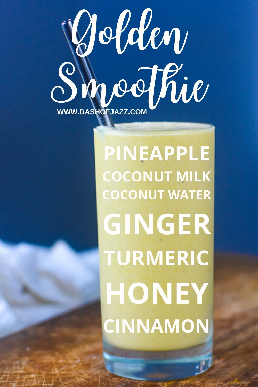 golden pineapple smoothie ingredients