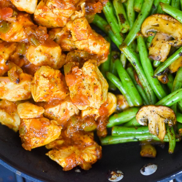 Salsa Chicken & Veggie Skillet (30-Minute Dinner)