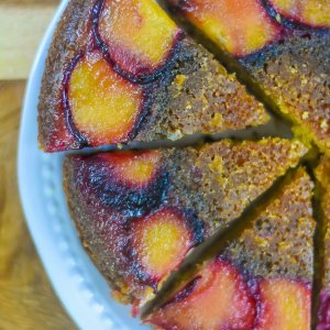 Bourbon Plum Upside Down Cake