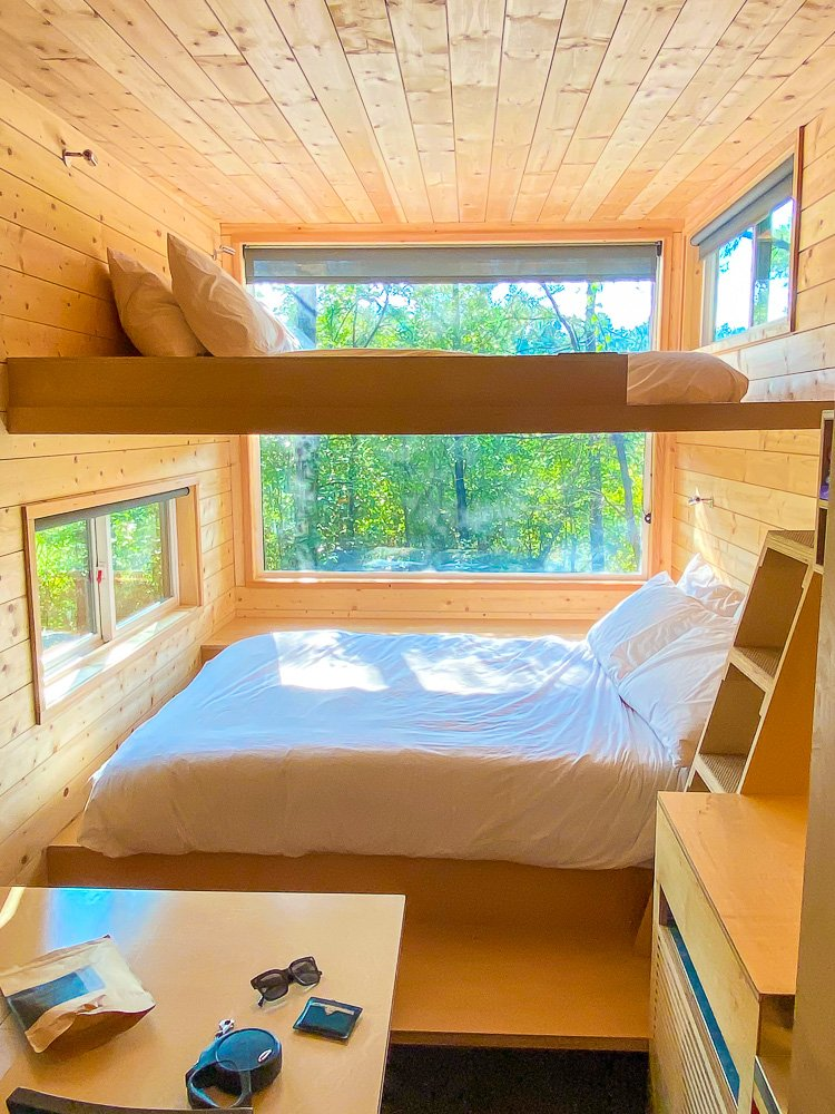 lofted beds in double Getaway cabin