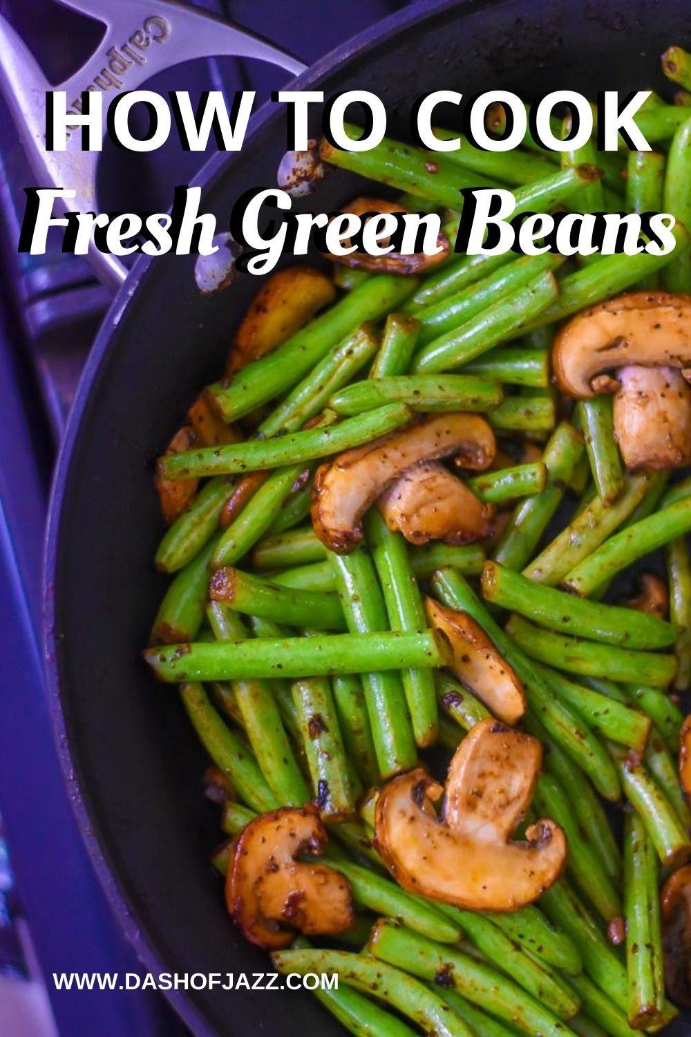 decorative image of green beans for Pinterest