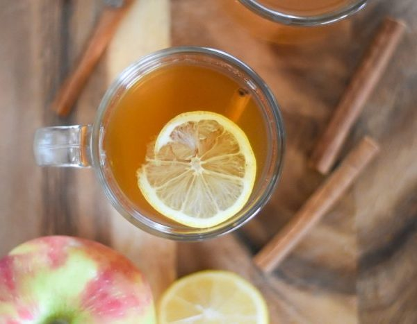 Spiced Apple Cider Hot Toddy with Whiskey