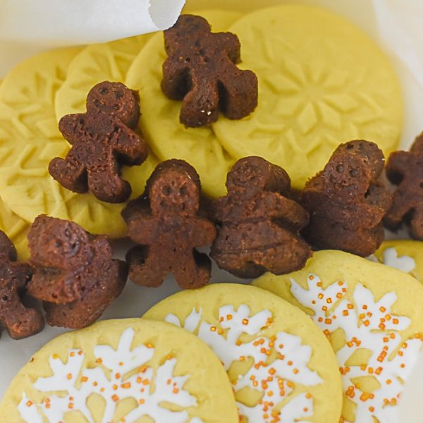 Holiday Cookie Boxes with Mini Chocolate Gingerbread Cakes