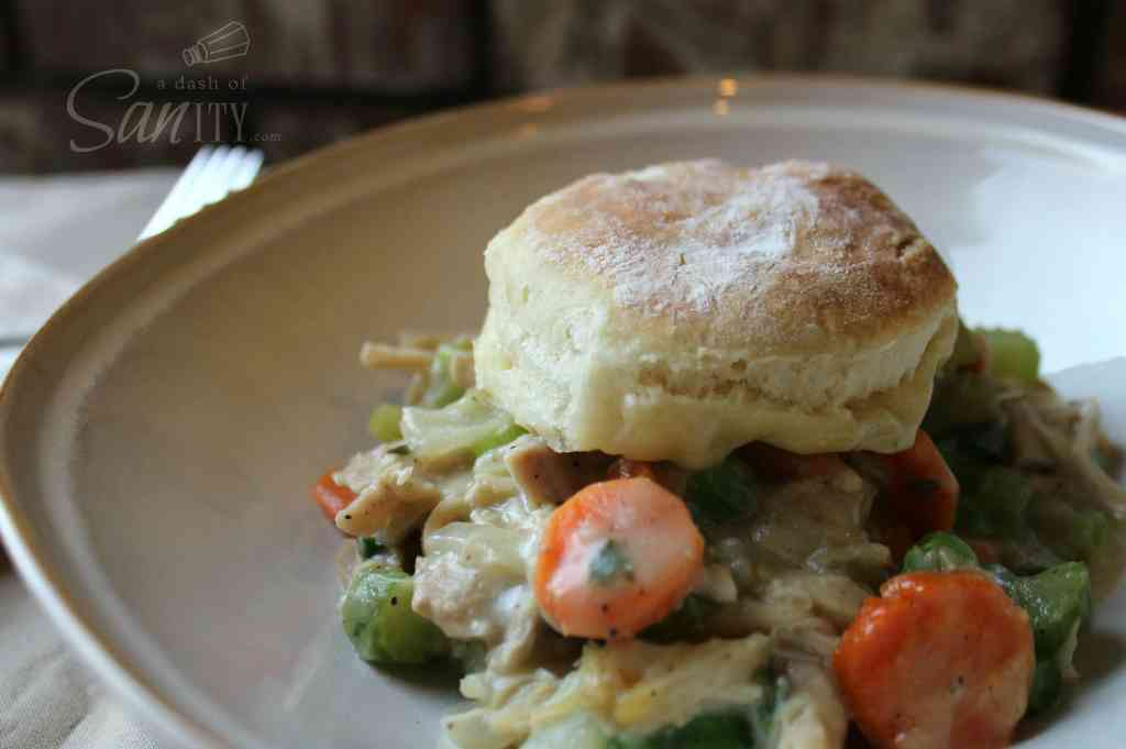 This Chicken & Biscuits Pot Pie combines the warm flavors of classic chicken pot pie with the buttery, flaky layers of biscuits into one grand masterpiece.
