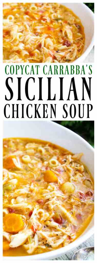 Carrabba's copycat recipe for SICILIAN CHICKEN SOUP is simple & gorgeous. Full of flavor, this will become a family favorite.