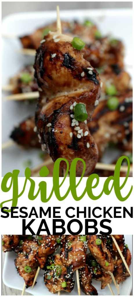 Grilled Sesame Chicken Kabobs pinterest image
