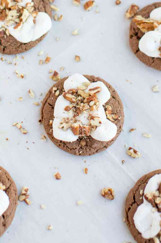 Mississippi Mud Cookies with pecans