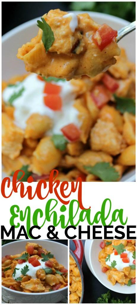 Chicken Enchilada Mac & Cheese pinterest image