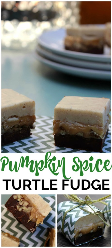 Pumpkin Spice Turtle Fudge pinterest image