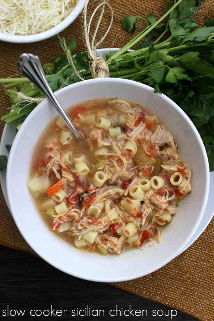 Slow Cooker Sicilian Chicken Soup main