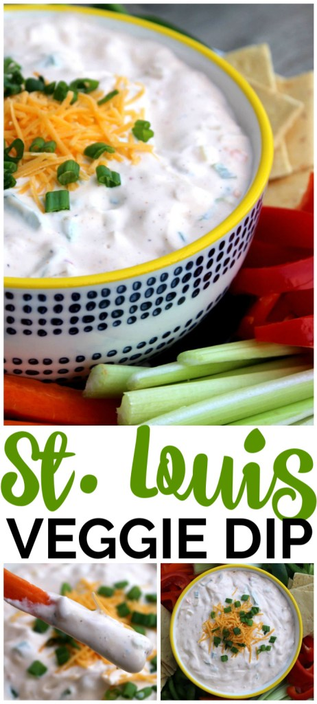 St. Louis Veggie Dip pinterest image