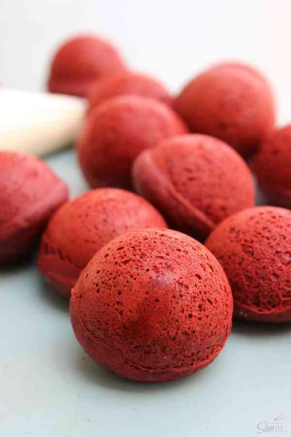 Baked Red Velvet Cake Donuts Holes