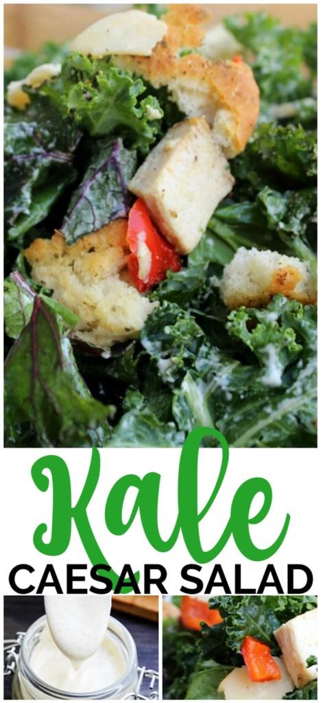 Kale Caesar Salad pinterest image