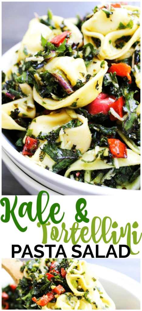 Kale & Tortellini Pasta Salad pinterest image
