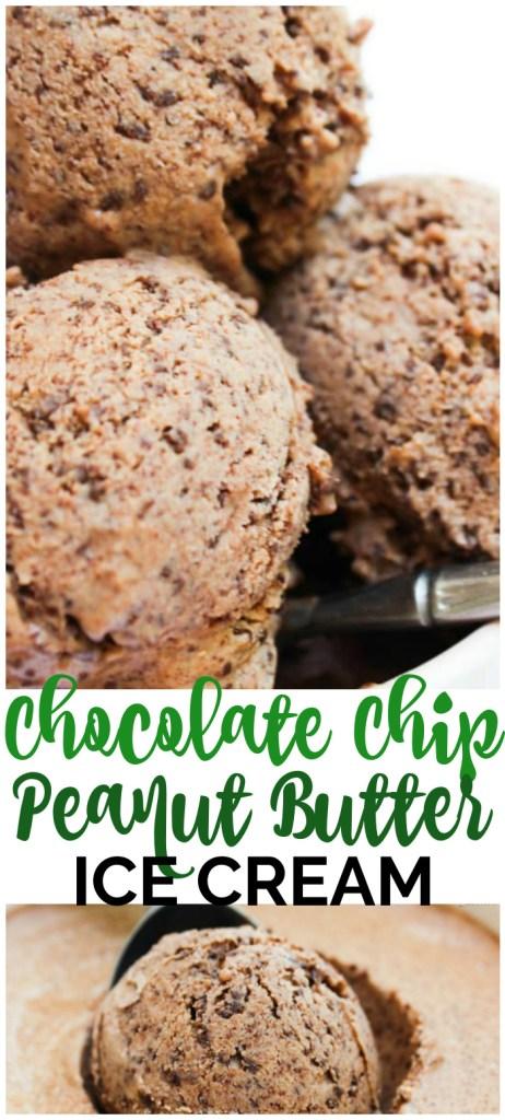 Semi-Homemade Chocolate Chip Peanut Butter Ice Cream pinterest image
