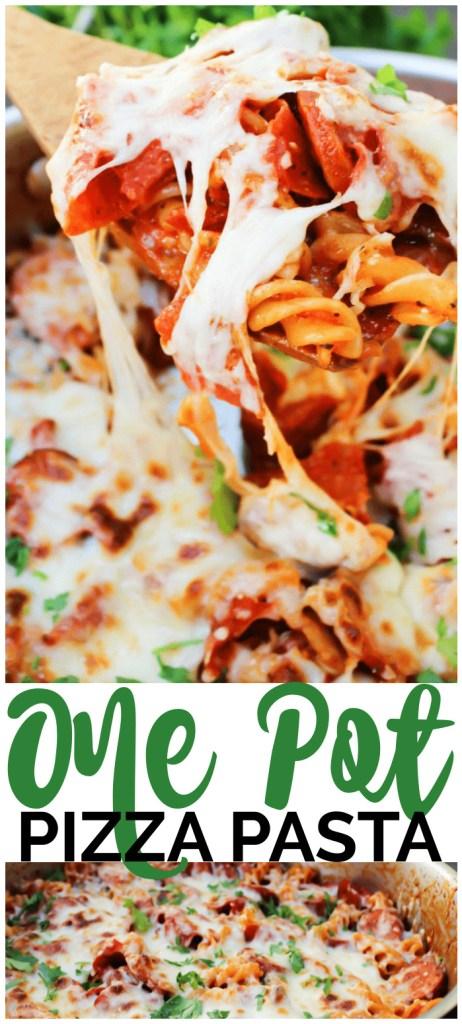 One Pot Pizza Pasta pinterest image