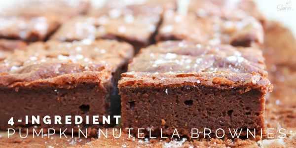 4-Ingredient Pumpkin Nutella Brownies Twitter