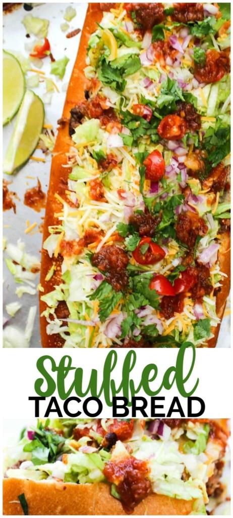 Stuffed Taco Bread pinterest image