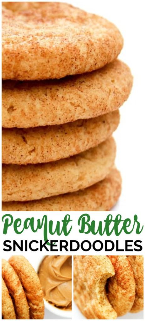 Peanut Butter Snickerdoodles pinterest image