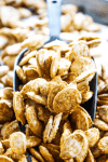 CINNAMON SUGAR PUMPKIN SEEDS will surely become a favorite Halloween snack, turning your pumpkin seeds into little churro bites.