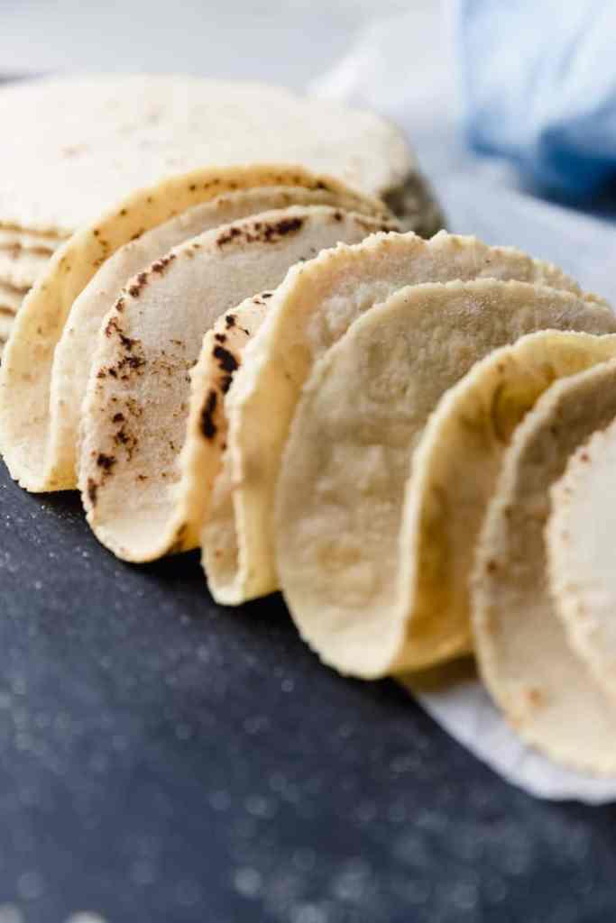 homemade corn tortillas for tacos